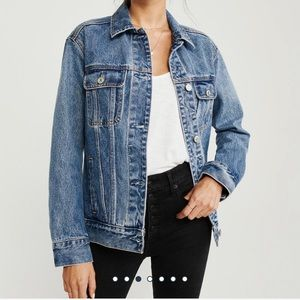 Abercrombie and Fitch oversized denim jacket- NWT